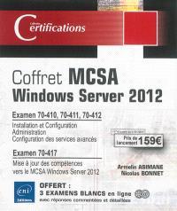 Coffret MCSA Windows Server 2012 : préparation aux examens 70-410, 70-411, 70-412, et 70-417
