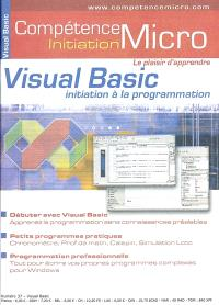Compétence Micro-Initiation. n° 37, Visual Basic : initiation à la programmation
