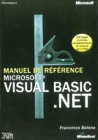 Manuel de référence Visual Basic .Net