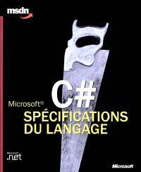 Microsoft C Dièse, spécifications du langage
