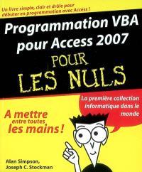 Programmation VBA pour Access 2007 pour les nuls