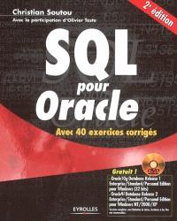 SQL pour Oracle : avec 40 exercices corrigés