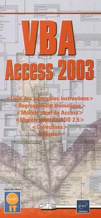 VBA Access 2003