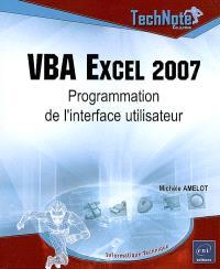 VBA Excel 2007 : programmation de l'interface utilisateur