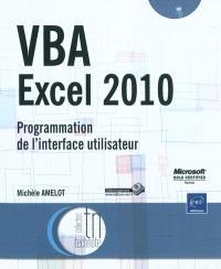 VBA Excel 2010 : programmation de l'interface utilisateur