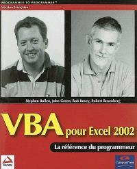 VBA pour Excel 2002 : la référence du programmeur