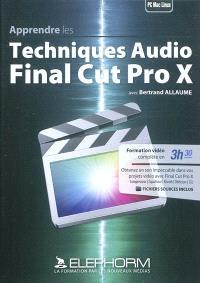 Apprendre les techniques audio : Final Cut Pro X
