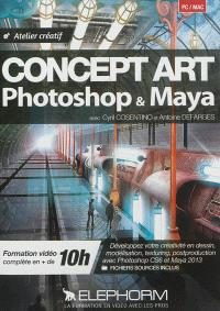 Concept art Photoshop & Maya : atelier créatif