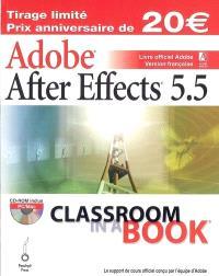 Adobe After Effects 5.5 : livre officiel Adobe : version française