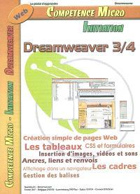 Compétence Micro-Initiation. n° 21, Dreamweaver 3-4