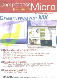 Compétence Micro-Initiation. n° 34, Dreamweaver MX