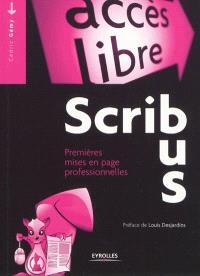 Scribus : premières mises en page professionnelles