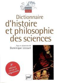 Dictionnaire d'histoire et philosophie des sciences