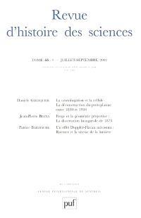 Revue d'histoire des sciences. n° 3 (2002)