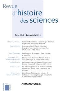 Revue d'histoire des sciences. n° 68-1