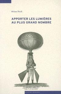 Apporter les lumières au plus grand nombre : médecine et physique dans le Journal de Lausanne, 1786-1792
