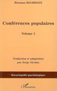 Conférences populaires. Volume 1