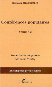 Conférences populaires. Volume 2