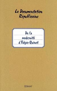 De la modernité d'Edgar Quinet
