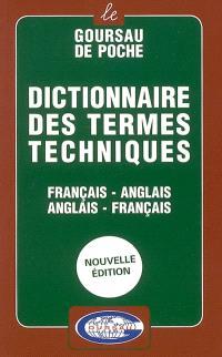 Dictionnaire des termes techniques : français-anglais, anglais-français