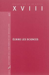 Ecrire les sciences