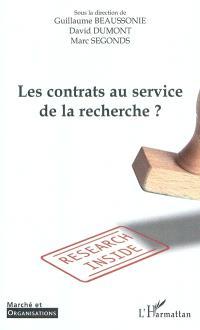 Les contrats au service de la recherche ?
