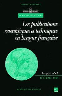 Les publications scientifiques et techniques en langue française