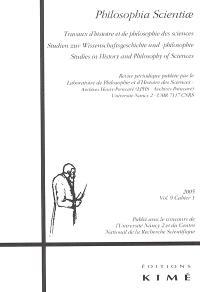 Philosophia scientiae. n° 9-1