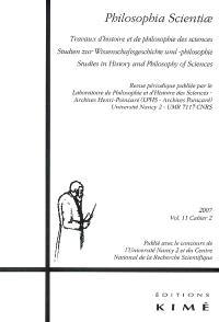 Philosophia scientiae. n° 11-2