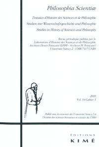 Philosophia scientiae. n° 14-1