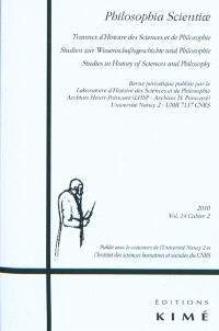 Philosophia scientiae. n° 14-2, De Torricelli à Pascal