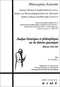 Philosophia scientiae. n° 5-1, Physique quantique