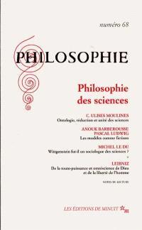 Philosophie. n° 68, Philosophie des sciences