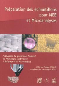 Préparation des échantillons pour MEB et microanalyses