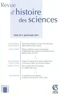 Revue d'histoire des sciences. n° 64-1