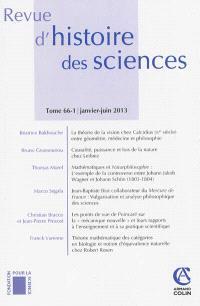 Revue d'histoire des sciences. n° 66-1