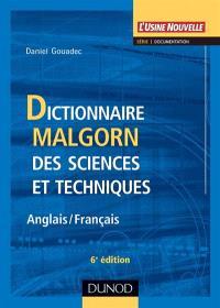 Dictionnaire Malgorn des sciences et techniques : anglais-français