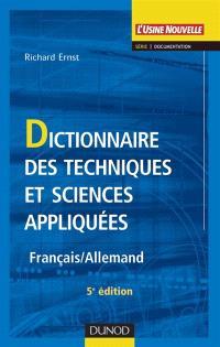 Dictionnaire des techniques et sciences appliquées : français-allemand