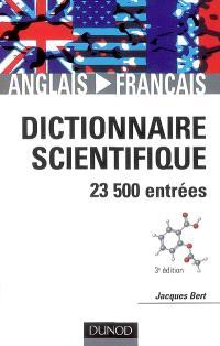 Dictionnaire scientifique anglais-français : 23.500 entrées
