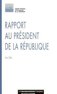 Rapport au président de la République : mars 2006