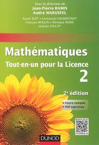 Mathématiques tout-en-un pour la licence niveau L2
