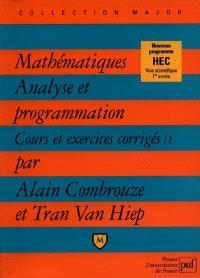 Mathématiques, analyse et programmation