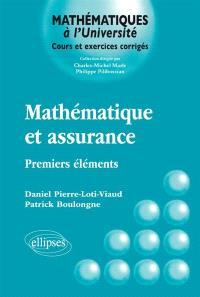 Mathématique et assurance : premiers éléments
