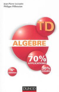 Algèbre : 70 % applications, 30 % cours