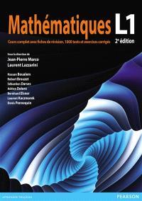 Mathématiques L1 : cours complet avec fiches de révision, 1.000 tests et exercices corrigés