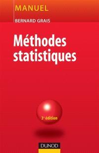 Techniques statistiques. Volume 2, Méthodes statistiques