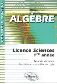 Algèbre : licences sciences 1re année