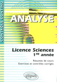 Analyse : licence sciences 1re année