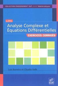 Analyse complexe et équations différentielles : exercices corrigés, L2M1