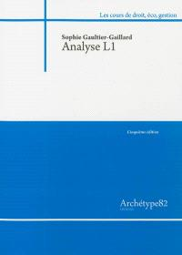 Analyse L1 : cours et exercices : 2013
